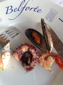 Sample from the seafood platter