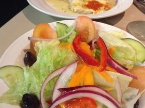 Saltimbocca and salad